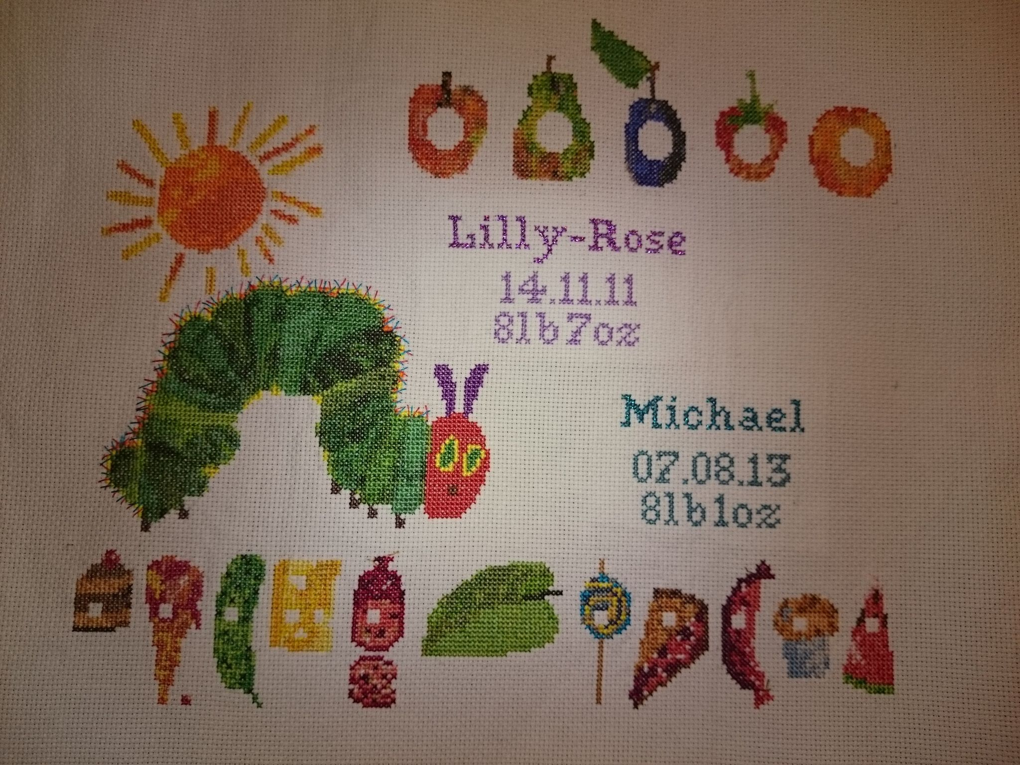Finished Caterpillar Birth Announcement