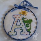 Letter A Ornament