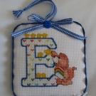 Letter E Ornament