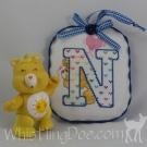 Letter N Ornament