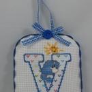 Letter V Ornament